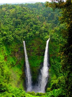 Waterfalls on the Bolaven Plateau (Pakse, Laos)