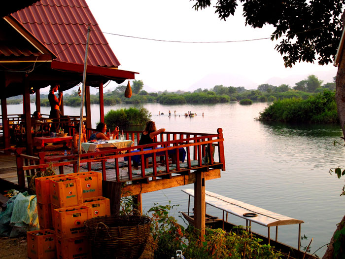 Relaxing on Don Det Island, Laos