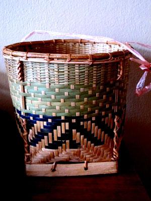 Hand-woven basket Laos