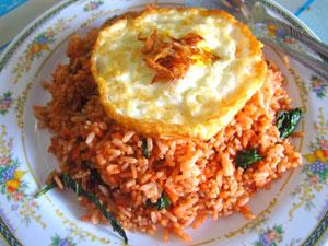 Nasi Goreng, Local food on Derawan Island, Indonesia