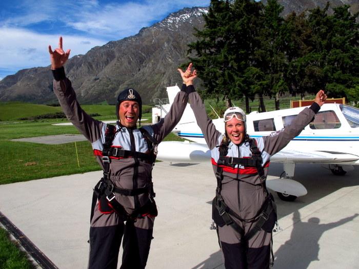 Skydiving in Queenstown, New Zealand