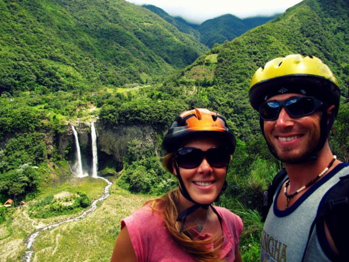 Biking in Banos, Ecuador