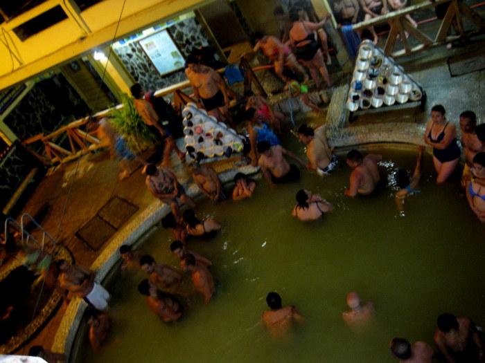 Hot Springs in Banos, Ecuador