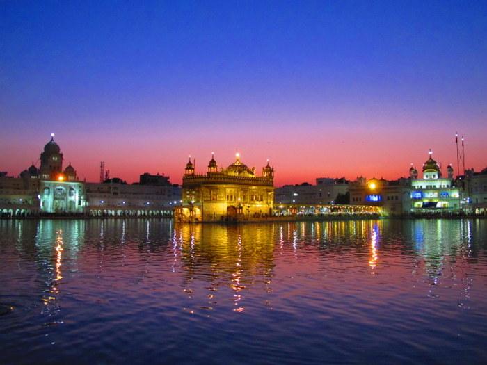 Amritsar, India Golden Temple at night
