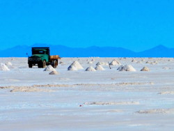 Collecting Salt on the Salar de Uyuni, Bolivia