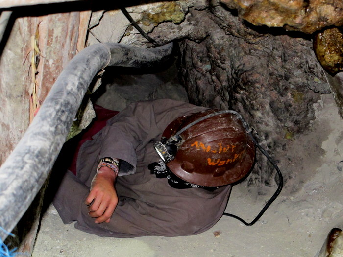 In the mine Potosi, Bolivia