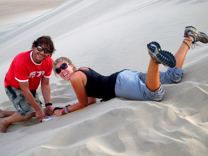 At the top of the dune Huacachina, Peru