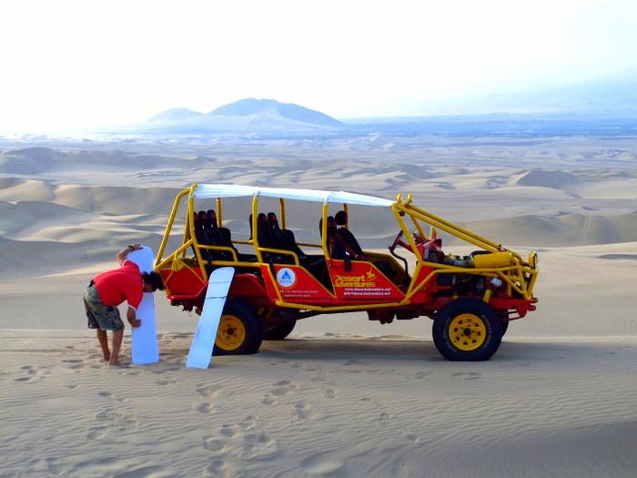 Our buggy Huacachina, Peru