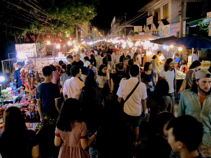 Saturday night market Chiang Mai, Thailand