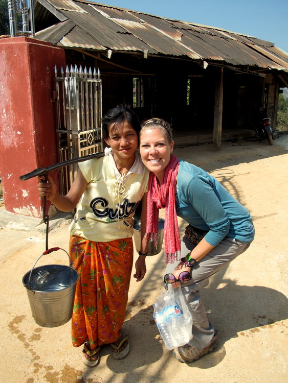A sweet woman in a Palaung village