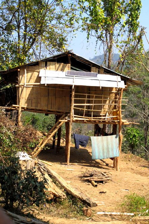 Simple home in the tea plantations in Myanmar