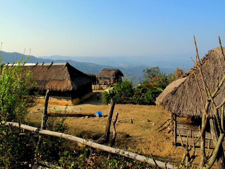 Small Nepali village in Mynamar
