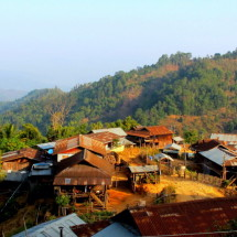 Small mountain village Myanmar
