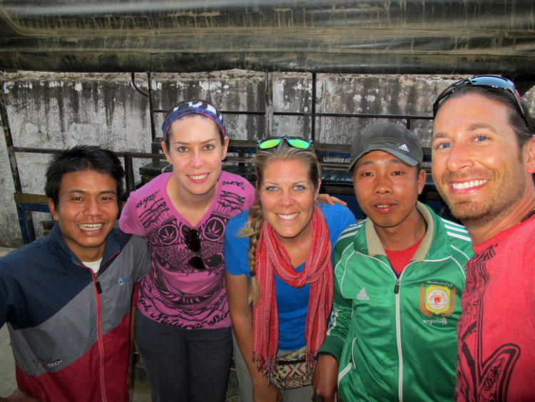 Us with our guide and driver to deliver the rice