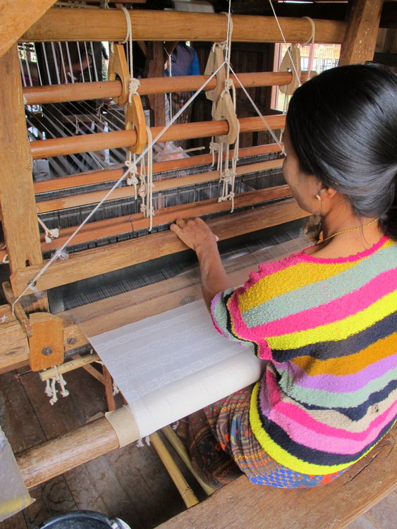 Weaving on Inle Lake, Myanmar