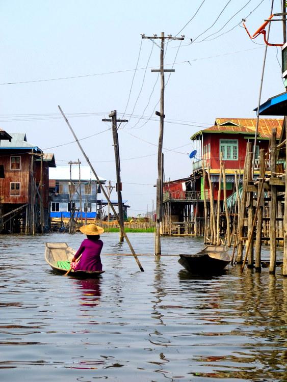 Woman on Inle Lake, Myanmar