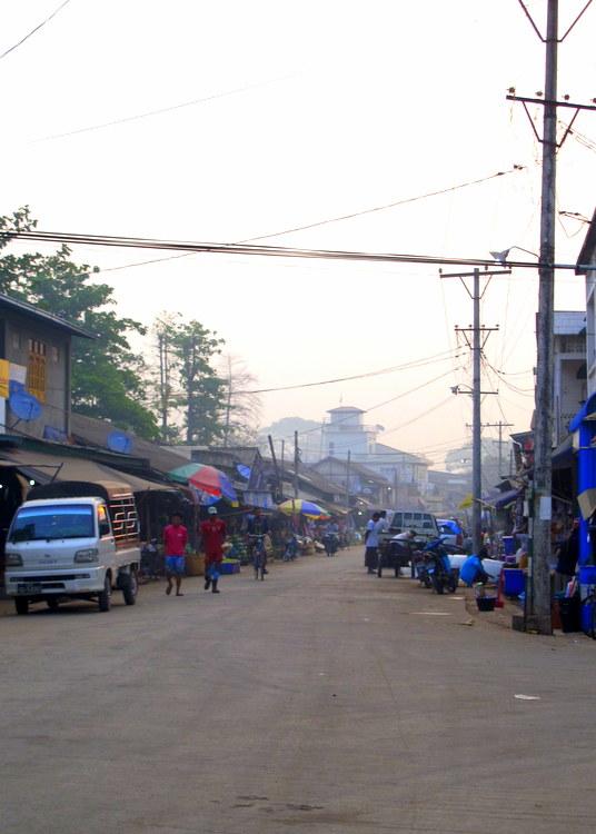 Early morning in Hpaan, Myanmar